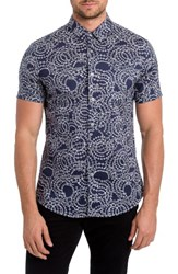 7 Diamonds Men's Clarity Print Woven Shirt Slate