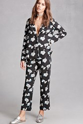 Forever 21 Miss Truth Floral Pants Black Multi