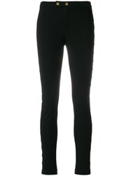 Michael Michael Kors Trousers With Button Details Polyester Spandex Elastane Viscose Metal Black