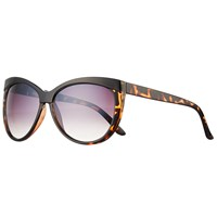 John Lewis Contrast Brow Cat's Eye Sunglasses Tortoise Multi Lilac Gradient