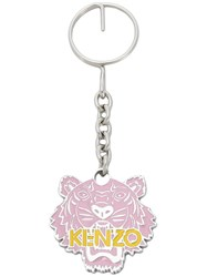 Kenzo Tiger Keyring Pink And Purple