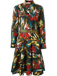 Marni Floral Print Shirt Dress Multicolour