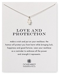 Dogeared Love And Protection Hamsa Necklace 18 Sterling Silver