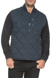 Andrew Marc New York Men's Water Resistant Quilted Down Vest Ink