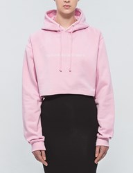 Fuck Art Make Tees Think Pink Cropped Hoodie