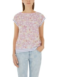 Marc Cain Silk Front Double Layer Top Pink Multi