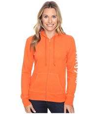 Life Is Good Painted Go To Zip Hoodie Coral Orange Women's Sweatshirt