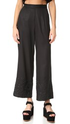 Mara Hoffman Embroidered Pants Black