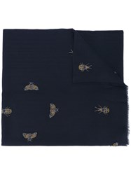 Janavi Beaded Bug Scarf Blue