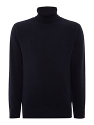 Soulland Rhodes Fine Wool Roll Neck Jumper Navy
