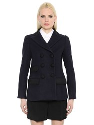 Marc Jacobs Double Breasted Wool Mini Pea Coat