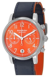 Men's Brooks Brothers 'Red Fleece' Chronograph Leather Strap Watch 42Mm
