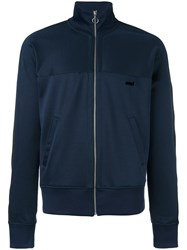 Ami Alexandre Mattiussi Zipped Contrast Band Track Jacket Blue