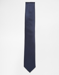 Selected Pindot Tie Blue
