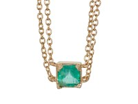 Loren Stewart Women's Emerald Double Chain Collar Necklace Gold