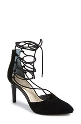 Women's Seychelles 'Bauble' Lace Up Pump Black Suede
