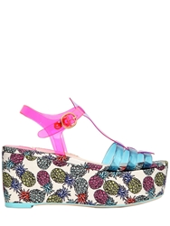 Sophia Webster 70Mm Suki Pineapple Print Jelly Sandals Multi