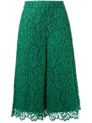 Muveil Lace Culottes Green