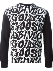 Golden Goose Deluxe Brand Grafitti Print Sweatshirt Black