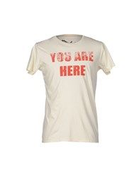 Worn Free Topwear T Shirts Men Ivory
