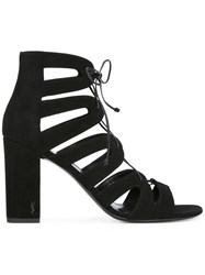 Saint Laurent Gladiator Block Heel Sandals Black