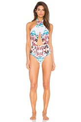 6 Shore Road Cabana One Piece Swimsuit Blue