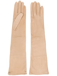 Erika Cavallini Long Gloves Nude And Neutrals