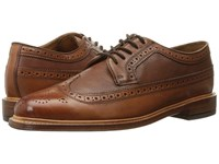 Florsheim Heritage Wingtip Oxford Cognac Smooth Milled Men's Lace Up Wing Tip Shoes Brown