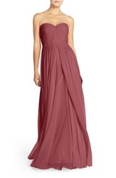 Women's Jenny Yoo 'Mira' Convertible Strapless Pleat Chiffon Gown Cinnamon Rose