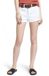 Treasure And Bond High Waist Cutoff Denim Shorts White