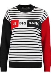 Etre Cecile Striped Printed Cotton Jersey Sweatshirt Red