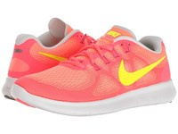 Nike Free Rn 2017 Sunset Glow Volt Hot Punch Violet Dust Women's Running Shoes Pink