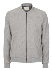 Selected Homme Grey Smart Bomber Jacket