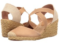 Lauren Ralph Lauren Casandra Safari Tan Women's Wedge Shoes