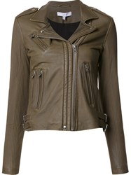 Iro Biker Leather Jacket Green