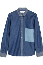 Golden Goose Deluxe Brand Cotton Chambray Shirt Mid Denim