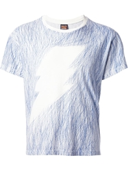 Walter Van Beirendonck Vintage Lightening Bolt T Shirt Blue