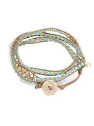 Lonna And Lilly Beaded Wrap Bracelet Light Green