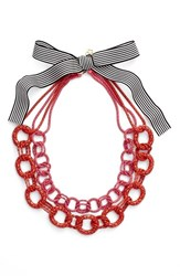 Women's Trina Turk Colored Chain Collar Necklace Red Multi