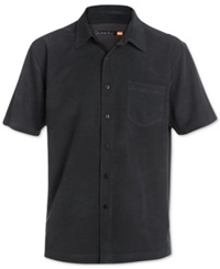 Quiksilver Waterman Clear Days Solid Short Sleeve Shirt Black