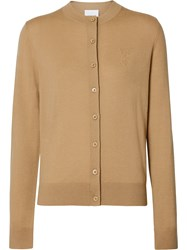 Burberry Monogram Motif Cardigan Neutrals
