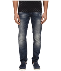 Armani Jeans Slim Fit Floral Pocket Jean In Mid Tone