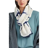 Denis Colomb Froisse Tie Dyed Silk Gauze Scarf White