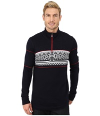 Dale Of Norway Rondane Masculine Navy Raspberry White Mel Men's Sweater Black