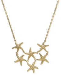 Charter Club Gold Tone Starfish Bib Necklace Only At Macy's