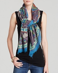 Fraas Love Square Scarf Turquoise