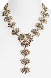 Sole Society Women's Confetti Cluster Y Necklace Bronze Combo