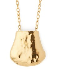 Marni Hammered Pendant Necklace Gold