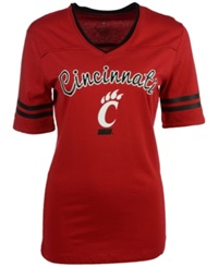 Colosseum Women's Cincinnati Bearcats Fair Catch T Shirt Red