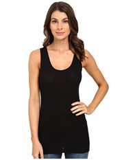 Heather Basic Rib Tank Top Black Women's Sleeveless